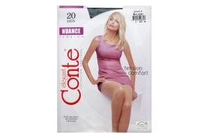 Колготки жіночі Conte Nuance 20den 4-L nero