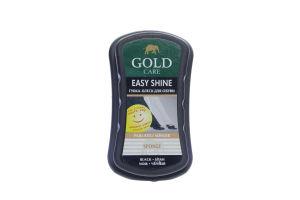 Губка-блеск для обуви черная Gold Care 1шт