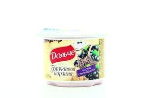Йогурт Дольче Фруктова корзина Чорна смородина 3,2% 120г х12