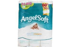 Angel Soft Bathroom Tissue Softness & Strength - 24 CT