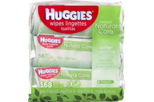 Huggies Natural Care Wipes Fragrance Free - 168 CT