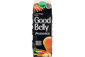 GoodBelly Probiotics Juice Drink Carrot Ginger Flavor