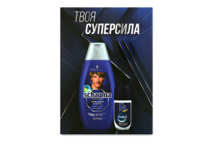 Набор шампунь с хмелем For men Schauma 400мл+антиперспирант роликовый аромат зеленого цитруса Спорт энергично свежий Fa 50мл 1шт