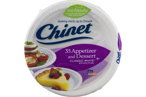 Chinet Appetizer And Dessert Plates Classic White - 35 CT