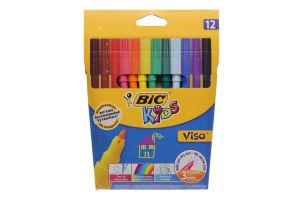 Набор фломастеров BIC Kids Visa 12 цветов