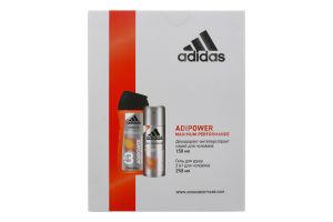 Набір для чоловіків Дезодорант-антиперспірант Cool&Dry Adipower+гель для душу 3in1 Adipower Adidas 1шт