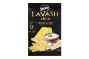 Чіпси пшеничні зі смаком сиру Конте в сметанному соусі Lavash Snekkin м/у 70г