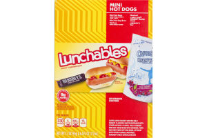 Lunchables Lunch Combinations Mini Hot Dogs