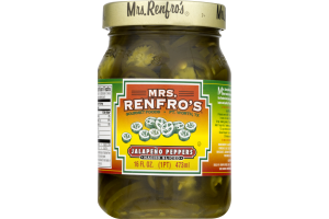 Mrs. Renfro's Jalapeno Peppers Nacho Sliced