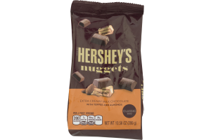 HERSHEY'S NUGGETS Extra Creamy Milk Chocolate with Toffee and Almonds, 12 oz