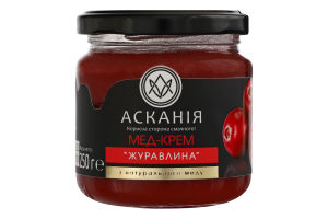Крем-мед Клюква Асканія с/б 250г