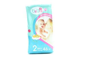 Подгузники детские 3-6кг Mini Premium Bebis 46шт