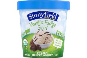 Stonyfield Organic Vanilla Fudge Swirl Frozen Nonfat Yogurt