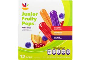 Ahold Junior Fruity Pops Assorted - 12 CT