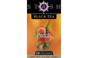 Stash Premium Peach Black Tea Bags - 20 CT