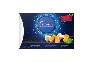 Вафли Gavоttes бекон-моцарелла-базилик-козий сыр
