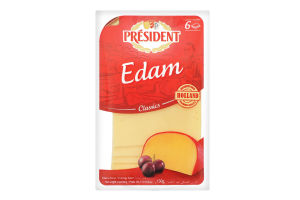 Сыр 40% твердый ломтями Edam President м/у 150г