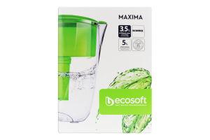 Фільтр-кувшин для води зелений 5л Maxima Ecosoft 1шт