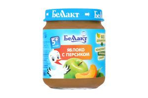 Пюре з яблук і персиків для дитячого харчування 100г., Беллакт