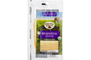 Organic Valley Muenster Cheese Deli Slices - 8 CT