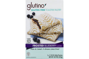 Glutino Gluten Free Toaster Pastry Frosted Blueberry - 5 CT
