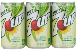 Diet 7-UP Naturally Flavored Soda - 6 PK
