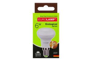 Лампа светодиодная LED 6W E14 3000K Eurolamp 1шт