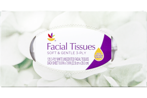 Ahold Facial Tissues Soft & Gentle 3-Ply - 120 CT