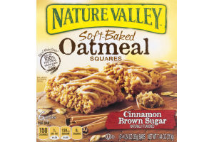 Nature Valley Soft-Baked Oatmeal Squares Cinnamon Brown Sugar - 6 CT