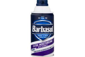 Barbasol Thick & Rich Shaving Cream Extra Moisturizing with Vitamin E