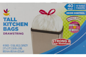 Ahold Tall Kitchen Bags Drawstring - 40 CT