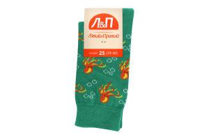 Шкарпетки чоловічі Лівий&Правий Море 25 зелений
