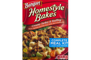 Banquet Homestyle Bakes Creamy Turkey & Stuffing Complete Meal Kit