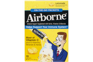 Airborne On-The-Go Packets Lemonade - 10 CT