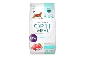 Корм сухий для стерилізованих котів Індичка та овес Optimeal м/у 1.5кг
