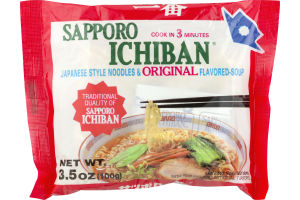 Sapporo Ichiban Japanese Style Noodles & Original Flavored Soup