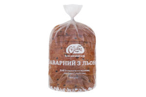 Хлеб нарезной Заварной с лёном Скиба м/у 400г