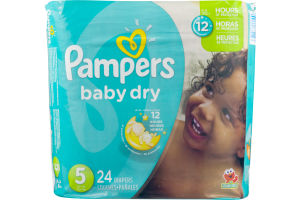 Pampers Baby Dry Diapers Size 5 - 24 CT