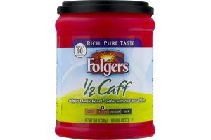 Folgers 1/2 Caff Ground Coffee Medium