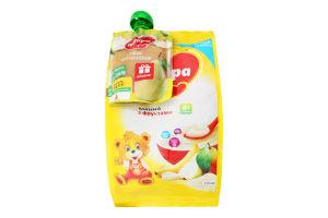 Набор для детей от 6мес каша молочная манная с фруктами сухая быстрорастворимая + пюре фруктовое с грушей Milupa 210г+80г