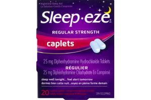 (CN) Sleep-eze Regular Strength Caplets Nighttime Sleep Aid - 20 CT, Sleep-eze Caplets Regulier La Solution Contre L'insomine - 20 CT