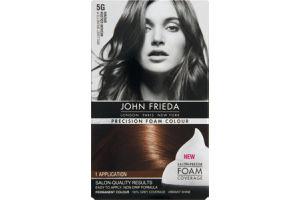 John Frieda Precision Foam Colour Brillant Brunette 5G Medium Golden Brown Permanent Colour