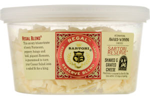 Sartori Shaved & Grated Cheese Regal Reserve Blend