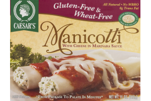 Caesar's Manicotti With Cheese In Marinara Sauce