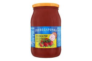 Томаты неочищенные в томатном соке Господарочка с/б 875г