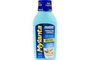Mylanta Liquid Antacid + Anti-Gas Vanilla Caramel Flavor