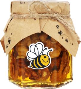 Мёд ассорти Грецкие орехи МегаМозг beHoney с/б 240г