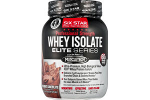 Six Star Pro Nutrition Professional Strength Decadent Chocolate Flavor Whey Isolate