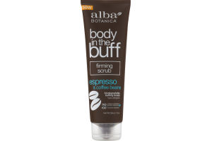 Alba Botanica Body in the Buff Firming Scrub Espresso & Coffee Beans