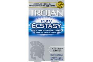 Trojan Pure Ecstasy Latex Condoms - 10 CT